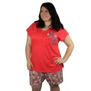 Vienetta Love pyžamo XXL světle červená