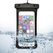 For iPhone 6 Plus & 6s Plus Universal IPX8 Certified to 10m Waterproof Carrying Case with Touch Responsive Front & Arm Band(Black)