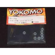 Yokomo YS-7S Shock O rings, thick soft type (8pcs)
