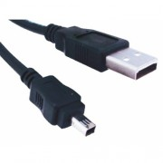 Cabo USB A M / Mini USB 4 pinos para Câmera Digital