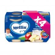 Mellin Merende yogurt - Kit risparmio 4x Merenda Mela e Yogurt* - KIT_4X_Confezione da 240 g ℮ (2 vasetti x 120 g)