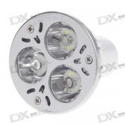 GU10 3W 3-LED 240-Lumen 7000K Light Bulb - White (220V)