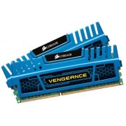 Corsair CMZ8GX3M2A1600C9B Vengeance 8GB (2x4GB) DDR3 1600 Mhz CL9 Mémoire pour ordinateur de bureau performante avec profil XMP. Bleu