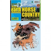 Planet Earth Horse Country 15 piece Playset with Colts Horses and Corral