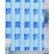 Zuhanyfüggöny kék mintás textil 180x200cm/017/Cikksz:063014