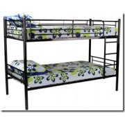 Emeletes ágy, ágyráccsal, fekete