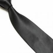 """""""Black Thin Striped Microfibre Tie"""""""