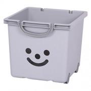 Kids room storage boxes, Toys storage box, Toys storage units with wheels, Storage box with smile, smiley storage box, Baby toys storage Grey - 25 Litre