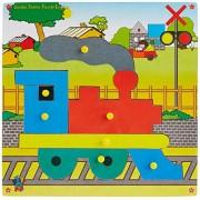 Skillofun Wooden Jumbo Theme Puzzle Engine Knobs, Multi Color