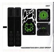 "Lego Original Sticker Sheet for The Chima Set #70130 ""Sparratus' Spider Stalker"""