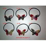 Serre-cheveux en caoutchouc avec une décoration japonaise (papillon)