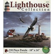 Karmin Lighthouse Collection Boston Lighthouse 550 Piece Jigsaw Puzzle