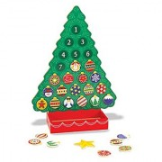Melissa & Doug Wooden Advent Calendar - Magnetic Christmas Tree 25 Magnets