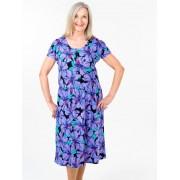 Seniors Choice Hibiscus Pattern Dress - Purple 12