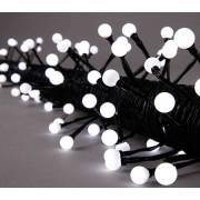 Star Trading LED partyslinga med 80 ljus 8m vit med svart kabel IP44