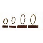 Horlogeband passantje / lusje leder bruin 20mm