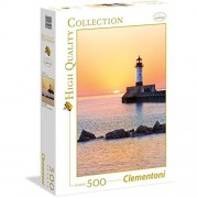 Clementoni - 35003.2 - Puzzle Collection High Quality - 500 Pièces - Phare Coucher de Soleil