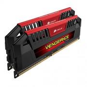 Corsair Vengeance Pro CMY16GX3M2A2400C11R 16 GB (2 x 8 GB), DDR3, 2400 Mhz, C11 XMP Performance Memory Kit, colore: rosso