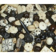 50 Grams Indian Bone Loose Mix Beads Mixed Crafts Pendents Curtains Jewellery Bracelets Gifts