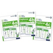 Numicon: Number, Pattern and Calculating 4 Explorer Progress Books ABC (Mixed pack) by Jayne Campling