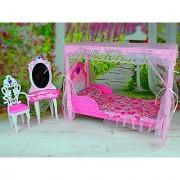Barbie Size Dollhouse Furniture - Bedroom Modern Comfort