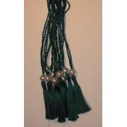 A5 SPINE TASSELS DARK GREEN - ORDER OF SERVICE - WEDDING