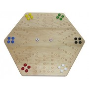 "Solid Maple Wood 20"" Wooden Aggravation (Wahoo) Game Board, Double-Sided by Wengerd Wood"