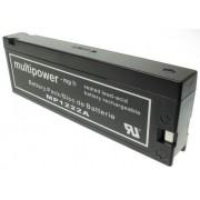 Acumulator Multipower MP1222A 12V 2Ah VRLA, AGM, Gel, PANASONIC LC-SA122R3AU, Defibrilator