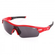 T-Rex BP-6192 Outdoor Cycling Polarized UV400 Protection Resin Frame PC Lens Sunglasses - Red