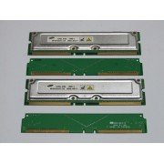 Memorie nonECC 256MB (2X128MB) RDRAM RIMM Samsung PC800 800MHz MR16R1624AF0-CK8 + 2 CRIMM