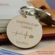 Brelok z grawerem - shopping is my cardio