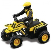 Maisto Racing (Yellow Striped) Off-Road Series Motorized ATV 2010 Maisto ATVs Fresh Metal Pull-Back Motor Die-Cast Vehic