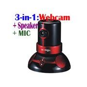 3 in 1 USB HD Webcam + Stereo Speaker + MIC Plug & Play Migix