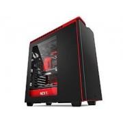 Boitier PC Tour moyenne H440 - noir/rouge