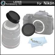 Rear Lens Cap and Camera Body Cover Cap for NIKON DSLR Cameras Nikon Df D7100 D7000 D5200 D5300 D3300 D5100 D3200 D3100 D800 810 D700 D600 D610 D300S D90 D750 D7200 Digital SLR Camera