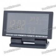 """4.6 """"LCD de coches encendedor de cigarrillos Powered Reloj Digital + tension + Termometro + Higrometro"""