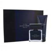Narciso Rodriguez For Him Bleu Noir 50Ml Edt 50 Ml + Shower Gel 75 Ml Per Uomo (Eau De Toilette)