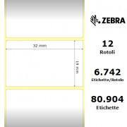 Etichette Zebra - Z-Ultimate 3000T White, formato 32 x 19