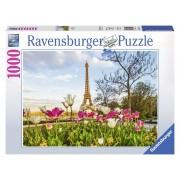 Ravensburger puzzle lalele si turnul eiffel, 1000 piese