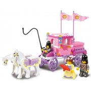 Sluban Building Block Prince Queen Princess Carriage Castle Dream of Pink Girl Toy B0250 137 Pieces Lego Compatible