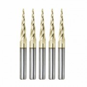 Amana Tool 46282-5, 5-Pack CNC 2D and 3D Carving 5.4 Deg Tapered Angle Ball Nose x 1/16 D x 1/32 R x
