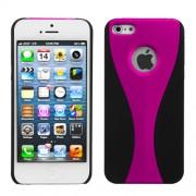 Protector Iphone 5 Negro con Franja Rosa
