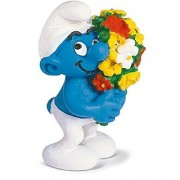 Schleich Smurf Figure with a Bouquet of Flowers