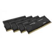 HyperX Predator HX426C13PB2K4/16 XMP Kit Memoria da 16 GB (4x4 GB), 2666 MHz, DDR4, Non-ECC CL13 DIMM, Compatibile con Skylake, Nero