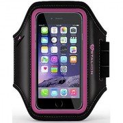 iPhone 6 6S PLUS Armband: Stalion Sports Running & Exercise Gym Sportband (5.5-Inch)(Fuchsia Pink)Water Resistant + Sweat Proof + Key Holder + ID / Credit Card / Money Holder