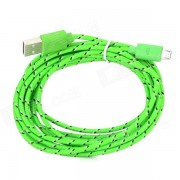 USB 2.0 to Micro USB Data Charging Nylon Cable for Amazon Kindle Fire / Paperwhite - Green (3m)
