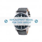 Cerruti (vervangend model) horlogeband Terra - CRA081SN19GY Leder Grijs 22mm
