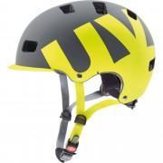 Uvex Hlmt 5 bike pro Gr. 55-58 cm - grau gelb / grey/lime mat - City Helme
