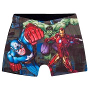 Shorts Praia Infantil Masculino Tip Top Preto personagem Avengers
