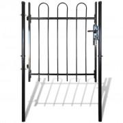 Single Door Fence Gate with Hoop Top 100 x 150 cm